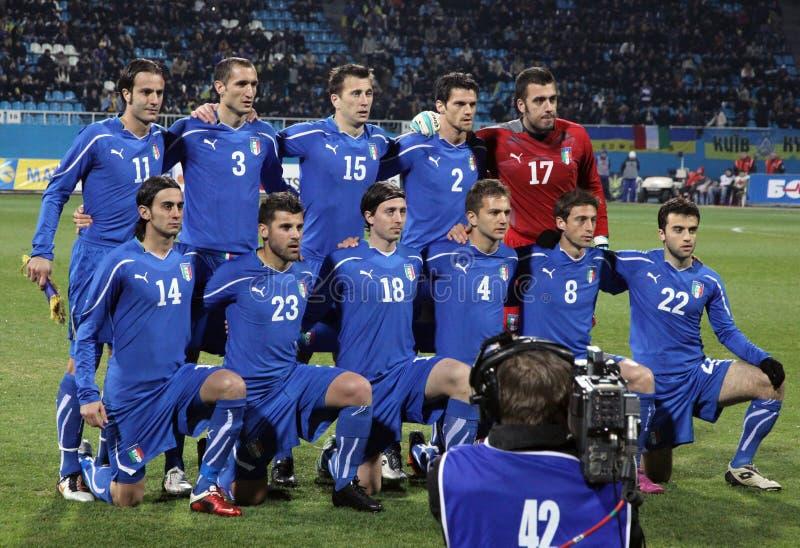 Equipo de fútbol del nacional de Italia imagen de archivo