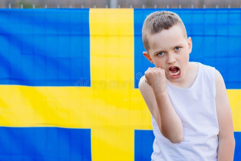 Equipo de fútbol del nacional de Suecia imagen de archivo