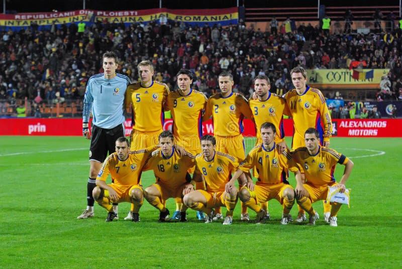 Equipo de fútbol rumano fotos de archivo