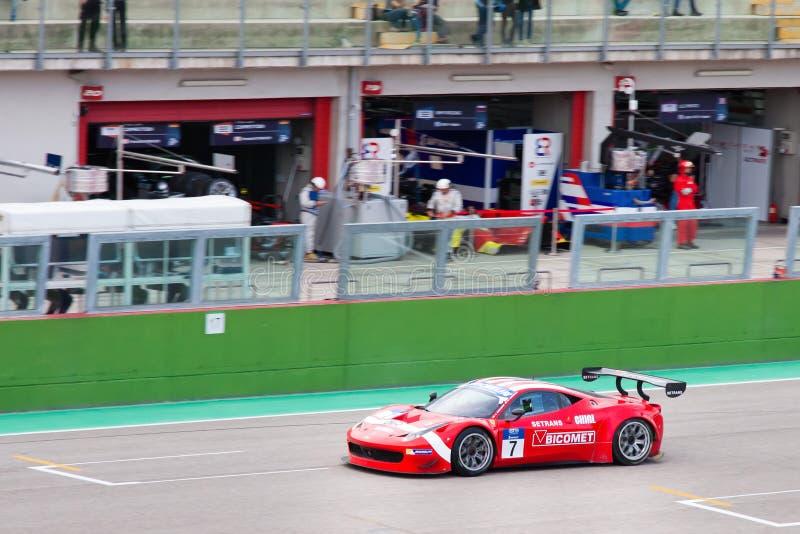 Equipo de Ferrari F458 foto de archivo