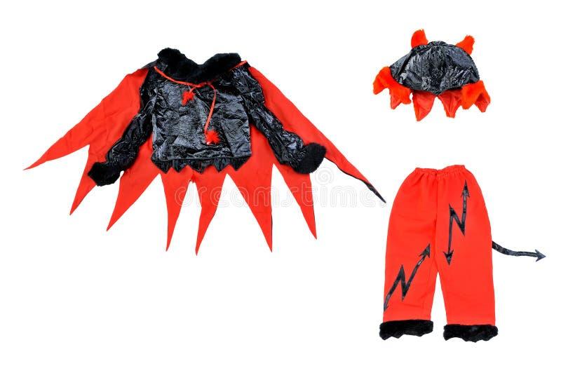 Equipo de Halloween - pequeño diablo foto de archivo libre de regalías