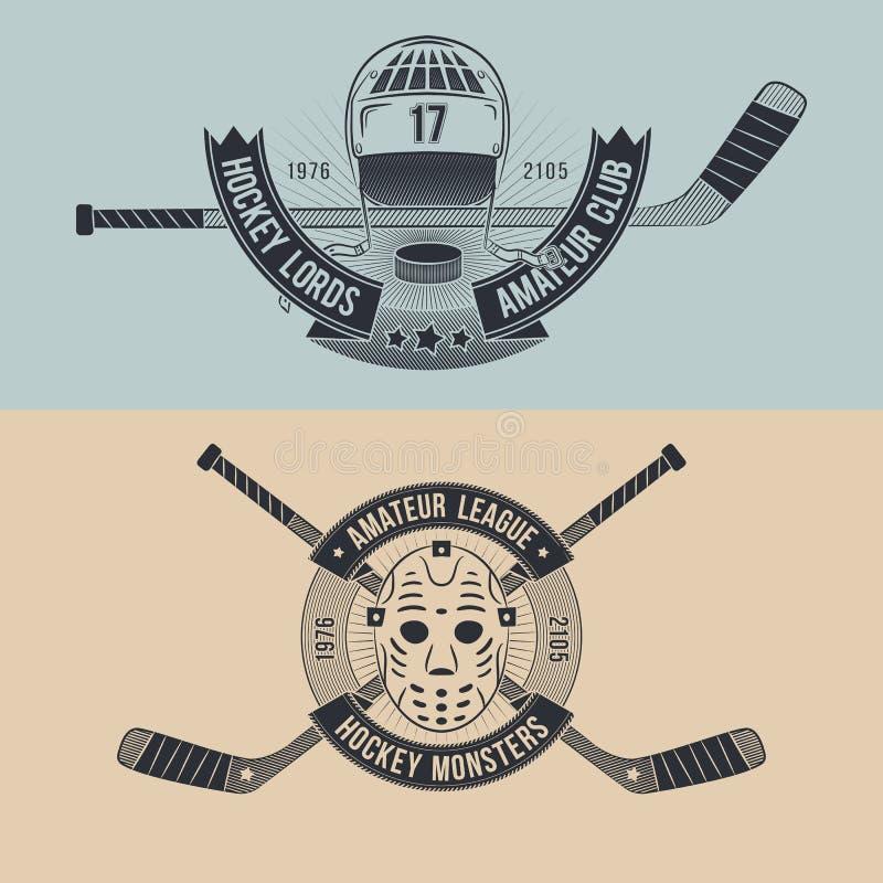 Equipo de hockey stock de ilustración