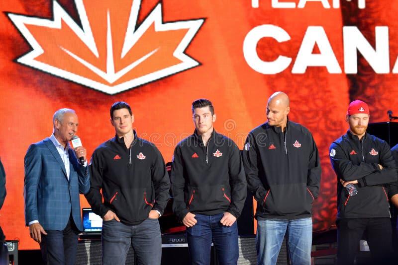 Equipo de hockey de Team Canada imagenes de archivo