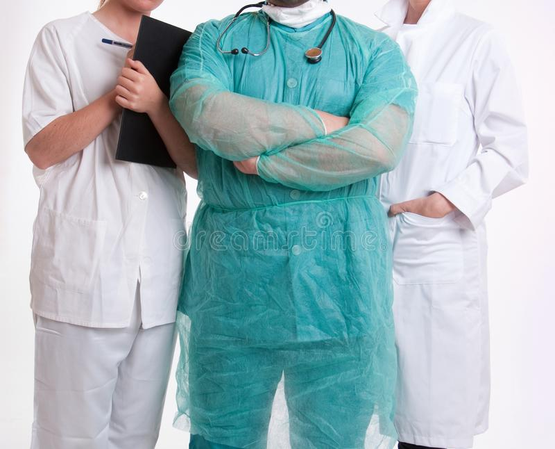 Equipo de la atención sanitaria foto de archivo libre de regalías
