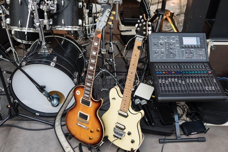 Equipo de la banda de la música fotos de archivo libres de regalías