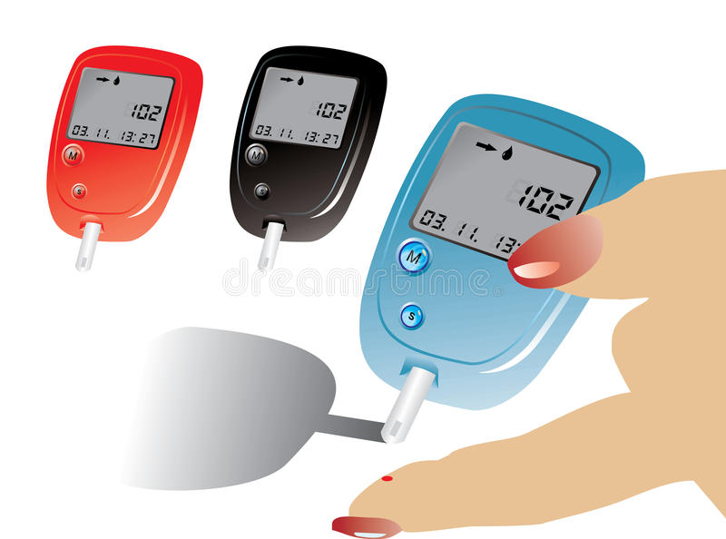 Equipo de la diabetes stock de ilustración