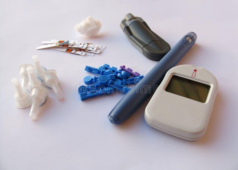Equipo de la diabetes imagen de archivo