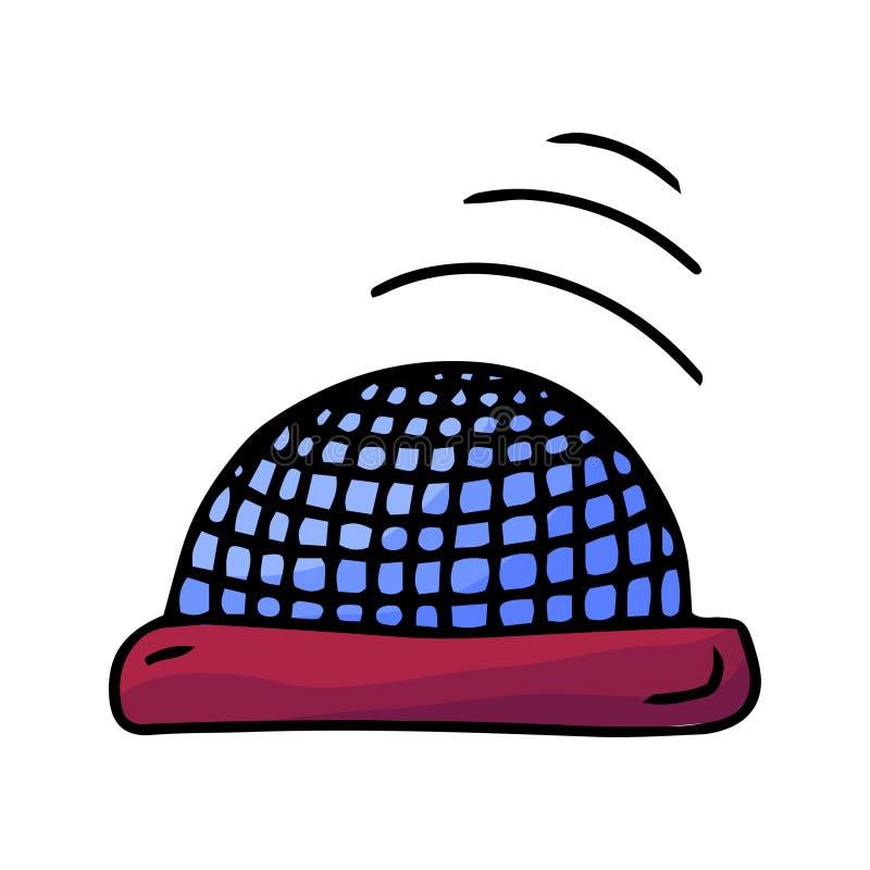 Equipo de la difusi?n del discurso Icono del altavoz de audio Elemento del garabato del dibujo de la mano Vector moderno stock de ilustración