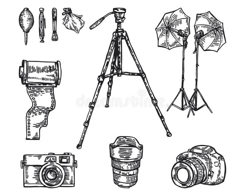 Equipo de la fotografía fotografía de archivo libre de regalías