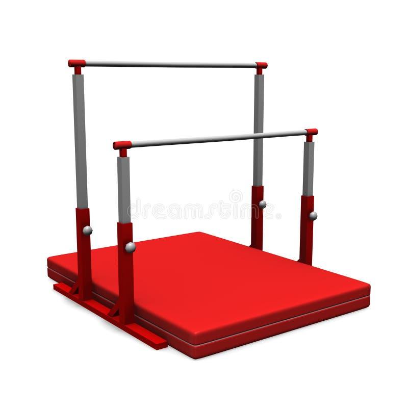 Equipo de la gimnasia ilustración del vector