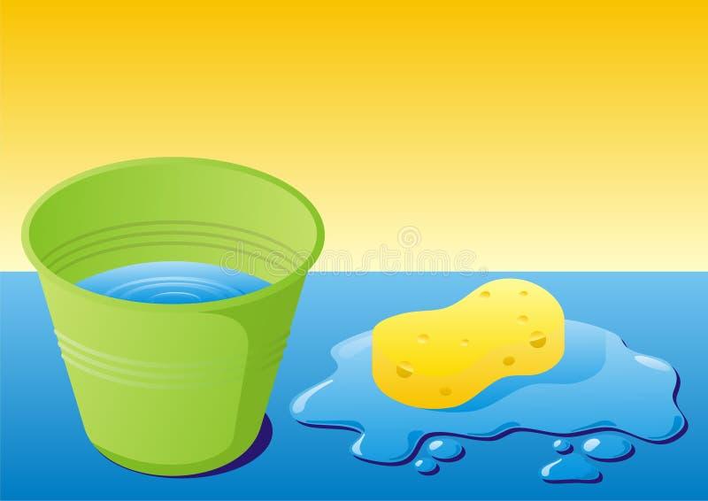 Equipo de la limpieza ilustración del vector