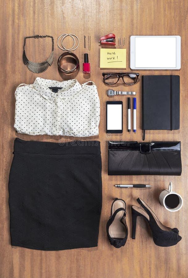 Equipo de la mujer de negocios en oficina. imágenes de archivo libres de regalías