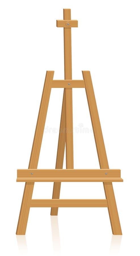Equipo de la pintura del caballete del trípode stock de ilustración