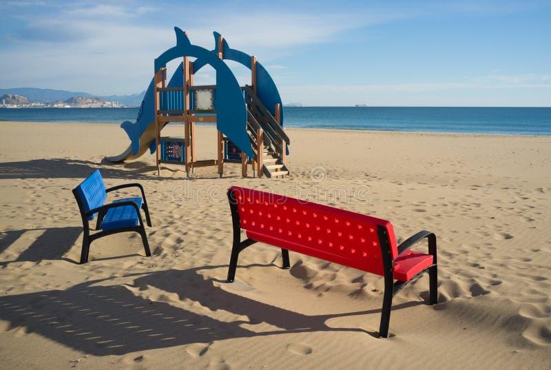 Equipo de la playa fotografía de archivo