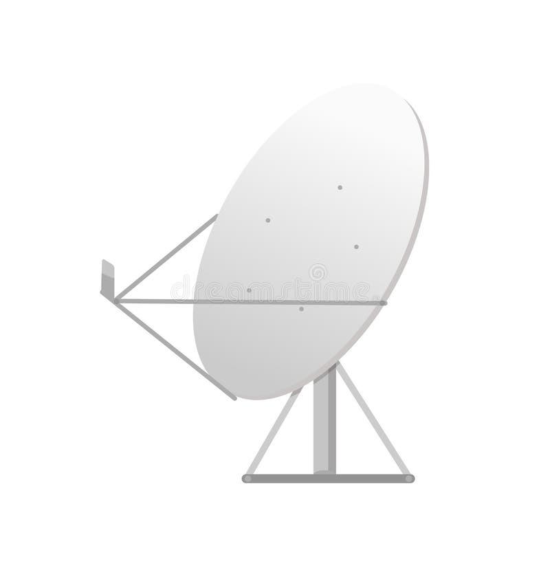 Equipo de la TV, antena parabólica, vector inalámbrico ilustración del vector