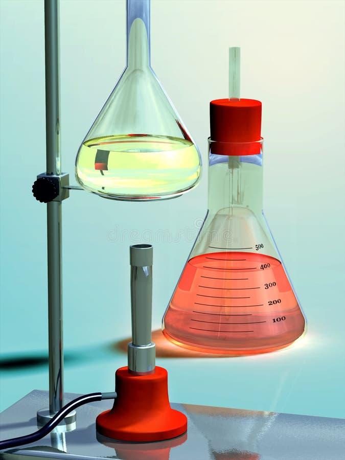 Download Equipo de laboratorio stock de ilustración. Imagen de rojo - 3647150