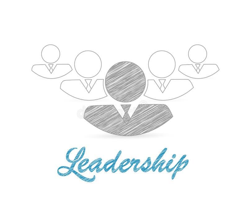 Equipo de liderazgo grupo del avatar de ejemplos ilustración del vector