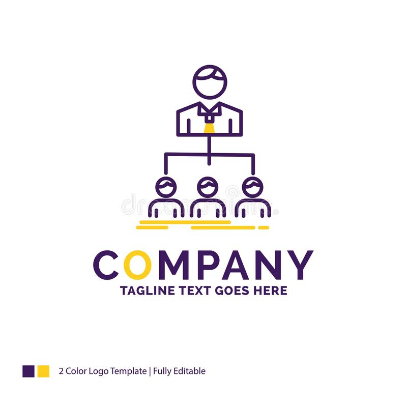 Equipo de Logo Design For del nombre de compañía, trabajo en equipo, organización, grupo ilustración del vector