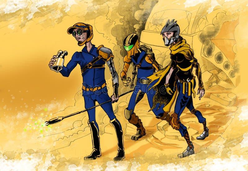 Equipo de los exploradores libre illustration