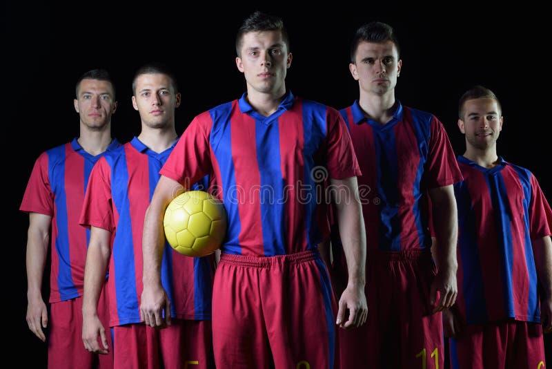 Equipo de los jugadores de fútbol fotos de archivo