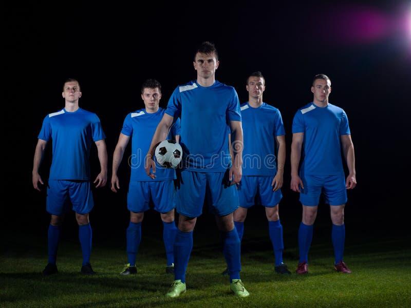 Equipo de los jugadores de fútbol fotografía de archivo