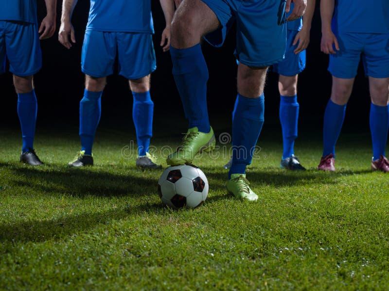 Equipo de los jugadores de fútbol foto de archivo libre de regalías