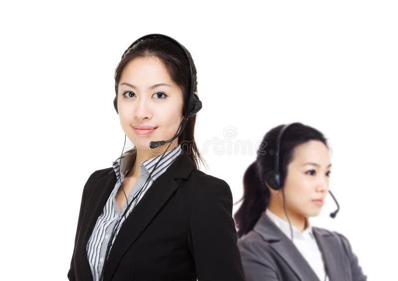Equipo de los servicios de atención al cliente foto de archivo