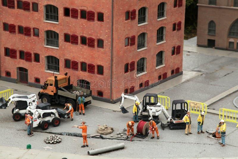 Equipo de los trabajadores de construcción fotos de archivo libres de regalías