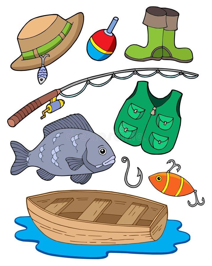 Equipo de pesca ilustración del vector