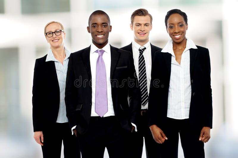 Equipo de presentación corporativa de los socios imagen de archivo