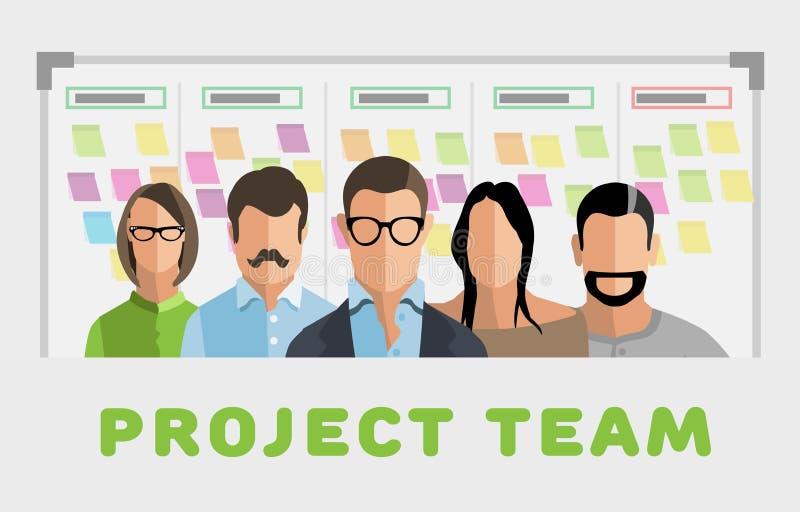 Equipo de proyecto stock de ilustración