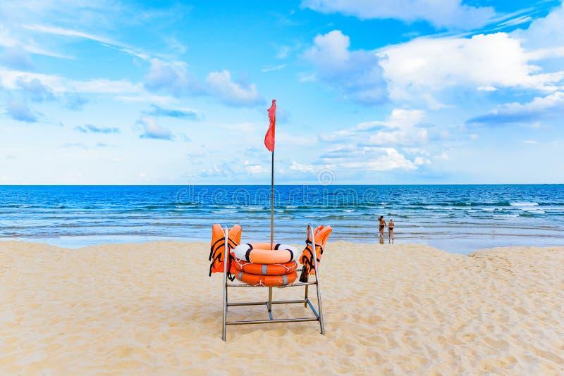 Equipo de rescate de la playa imagen de archivo