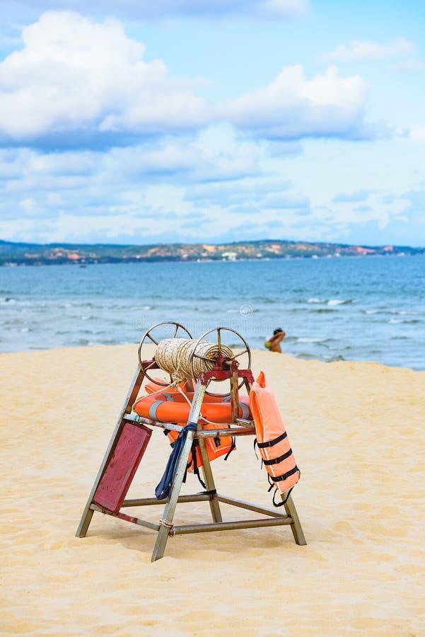 Equipo de rescate de la playa fotos de archivo