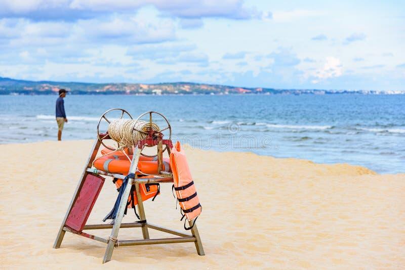 Equipo de rescate de la playa imagen de archivo libre de regalías