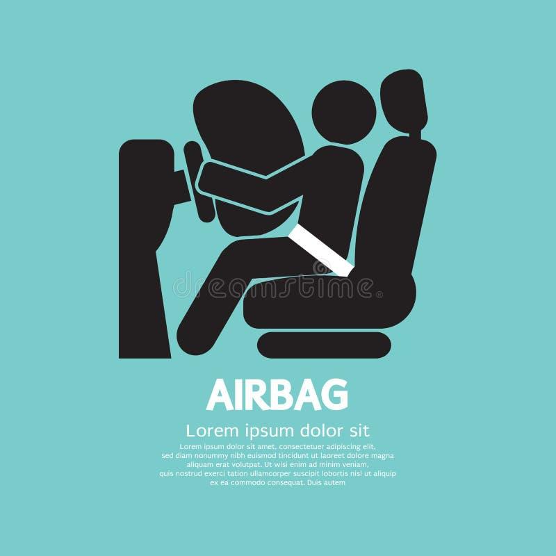 Equipo de seguridad del coche del saco hinchable libre illustration