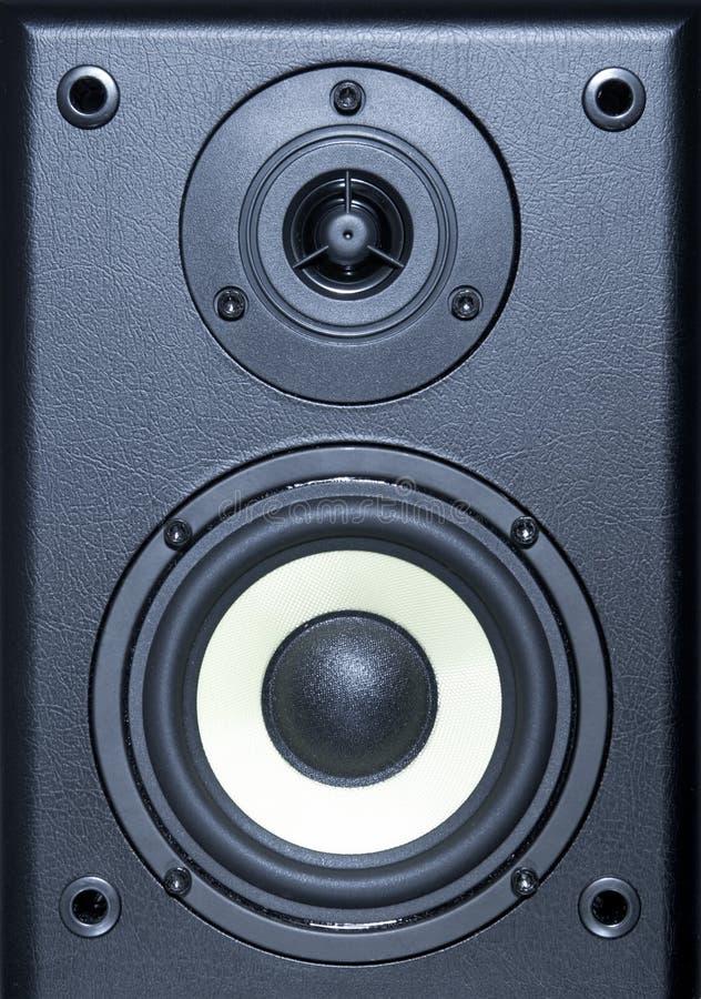 Equipo de sistema audio - opinión ascendente cercana del altavoz foto de archivo libre de regalías