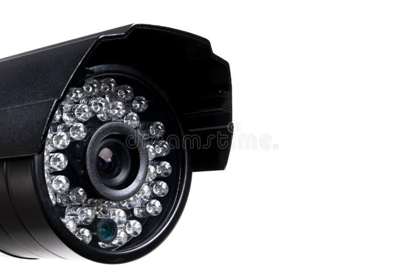 Equipo de vídeo de la cámara de seguridad del CCTV Supervisión de la vigilancia Primer de la lente de la c?mara de v?deo Tiro mac foto de archivo libre de regalías