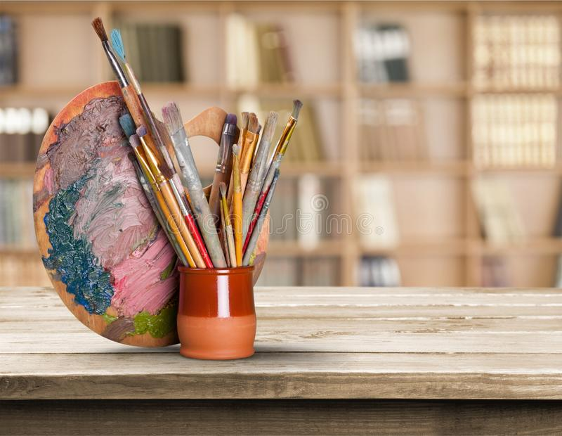 Equipo del arte y del arte imagen de archivo libre de regalías