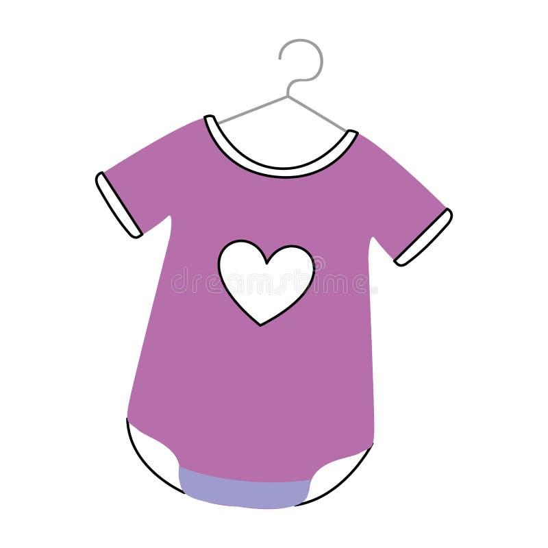 Equipo del bebé con el corazón libre illustration