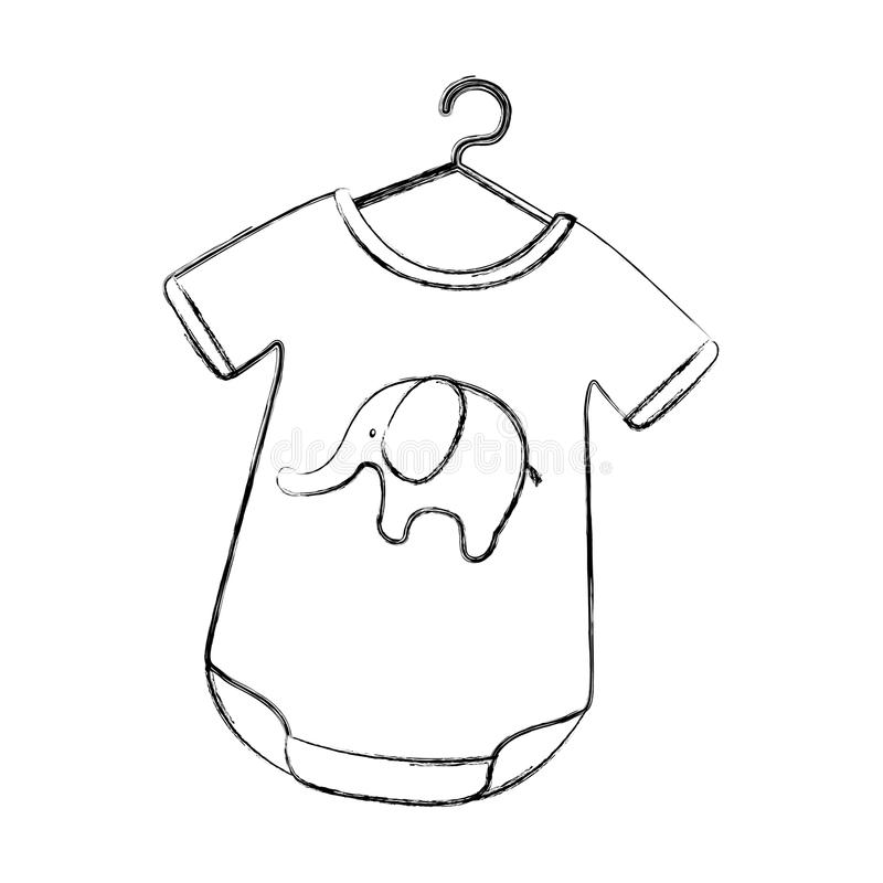 Equipo del bebé con el elefante ilustración del vector