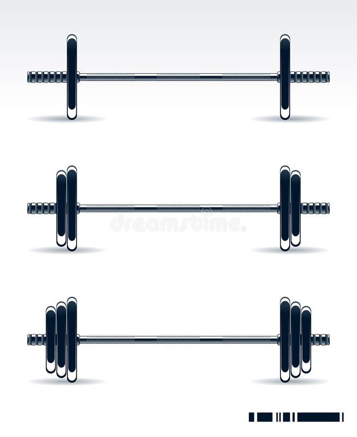 Equipo del Bodybuilding ilustración del vector