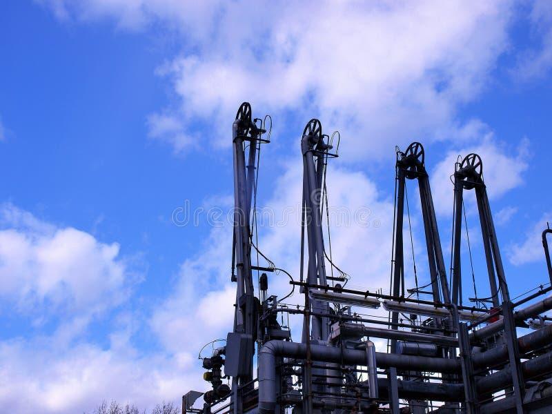 Equipo del campo petrolífero fotos de archivo
