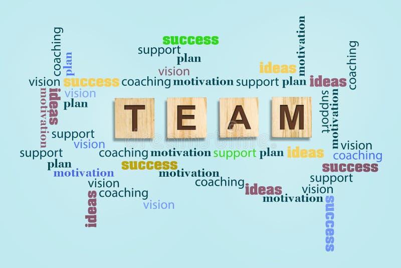 Equipo del concepto Inscripciones, éxito, ayuda, idea, visión, motivación, entrenando en un fondo gris Negocios Trabajo en equipo libre illustration