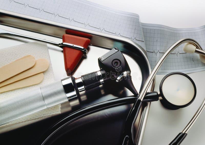 Equipo del examen médico imagen de archivo