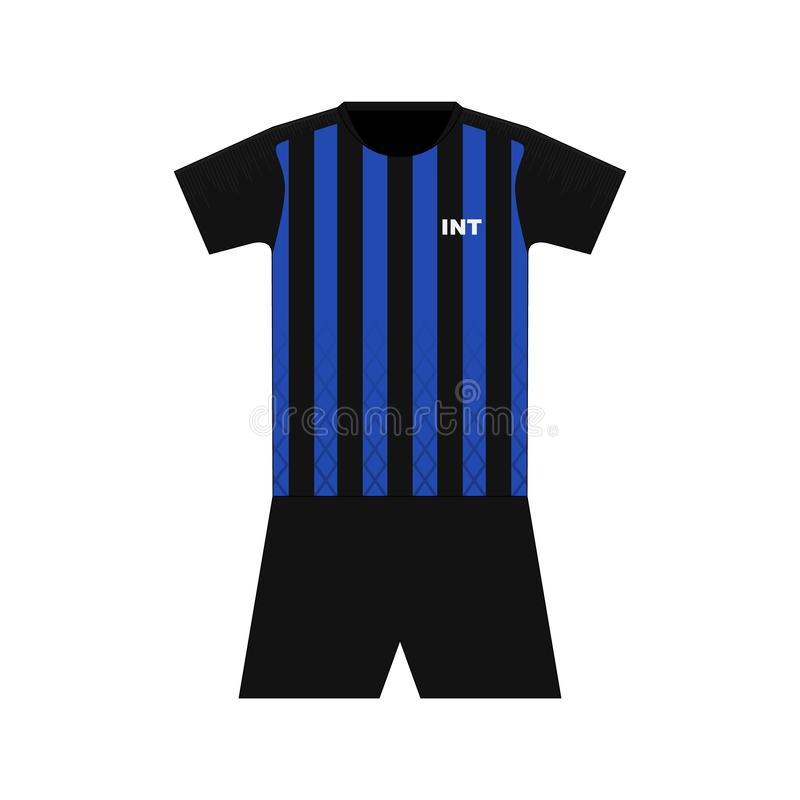 Equipo del fútbol milano stock de ilustración