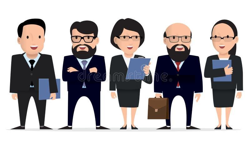 Equipo del negocio - carácter del hombre de negocios del grupo libre illustration