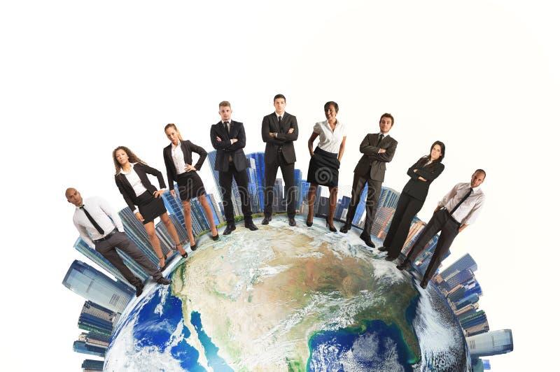 Equipo del negocio global fotos de archivo