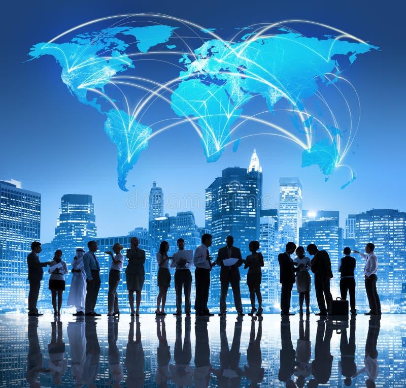 Equipo del negocio global imagen de archivo