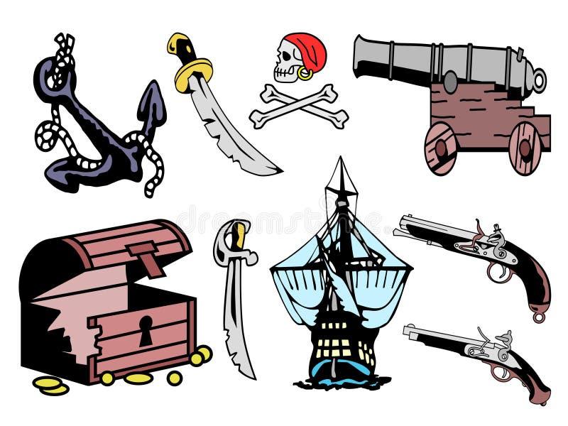 Equipo del pirata libre illustration