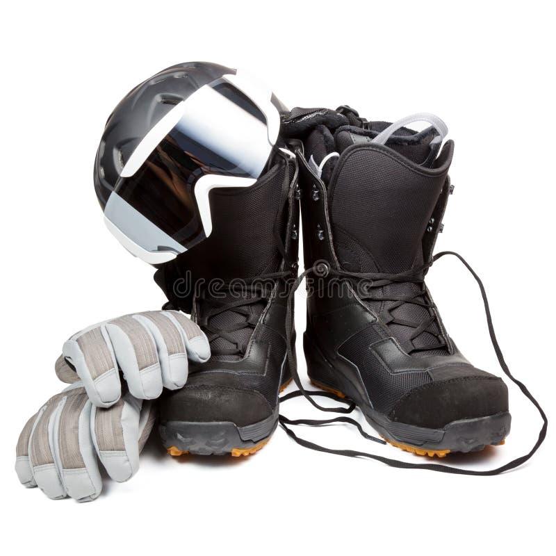 Equipo del Snowboard fotografía de archivo